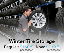 Winter Tire Storage Coupon