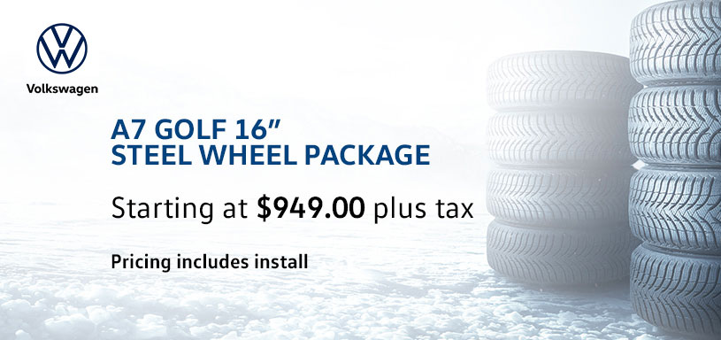 A7 Golf 16s Steel Winter Tire Offer