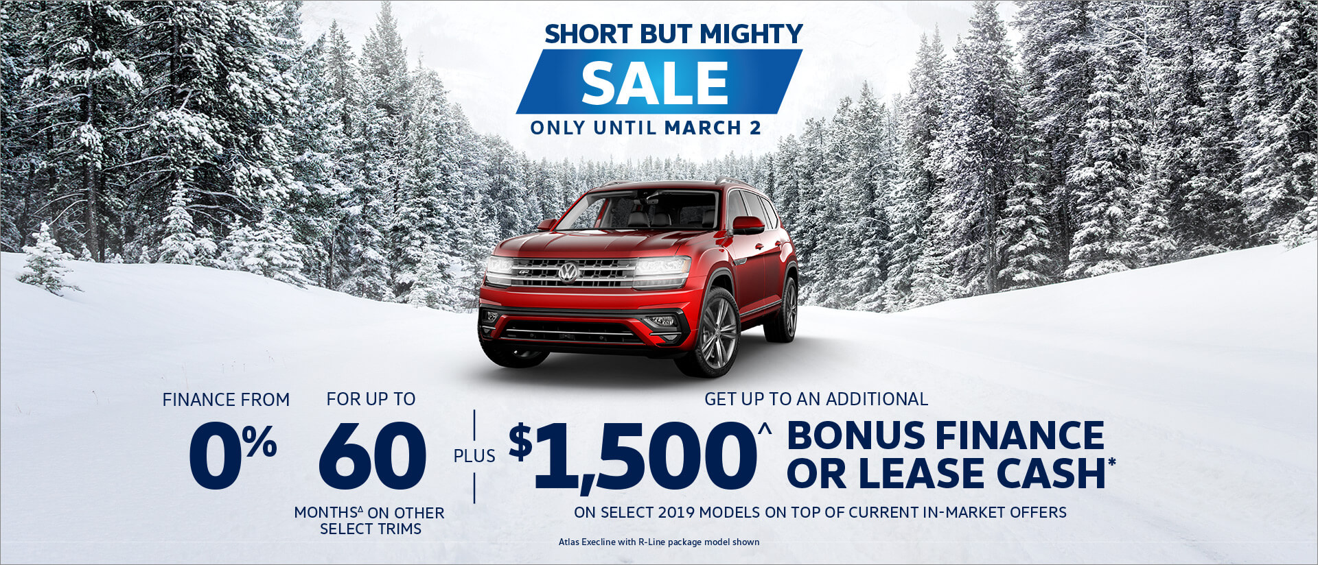 Short But Mighty Sale - Atlas Offer