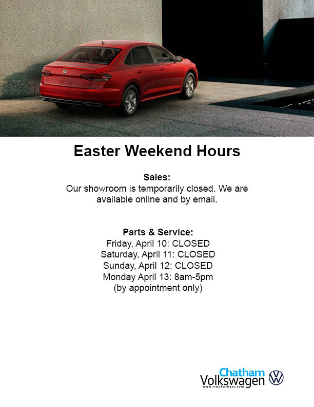 Easter Hours Chatham