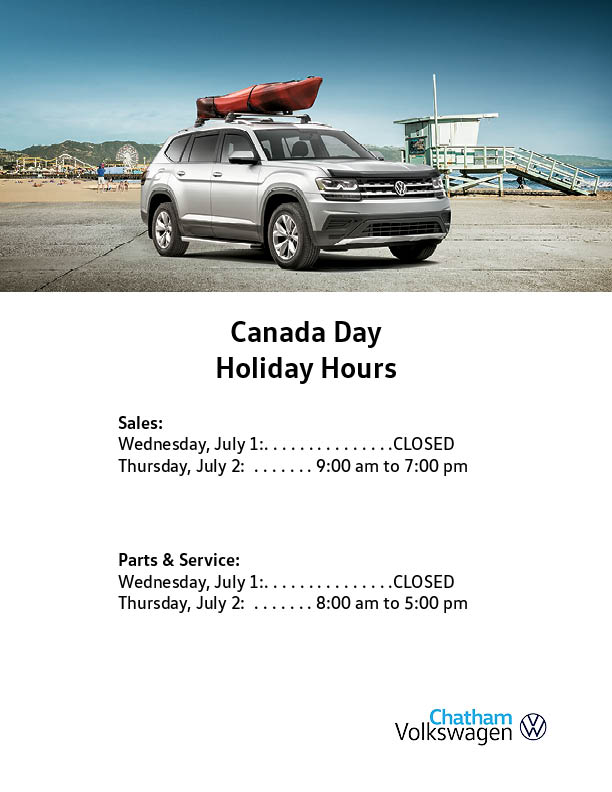 Canada Day Hours Chatham 2020