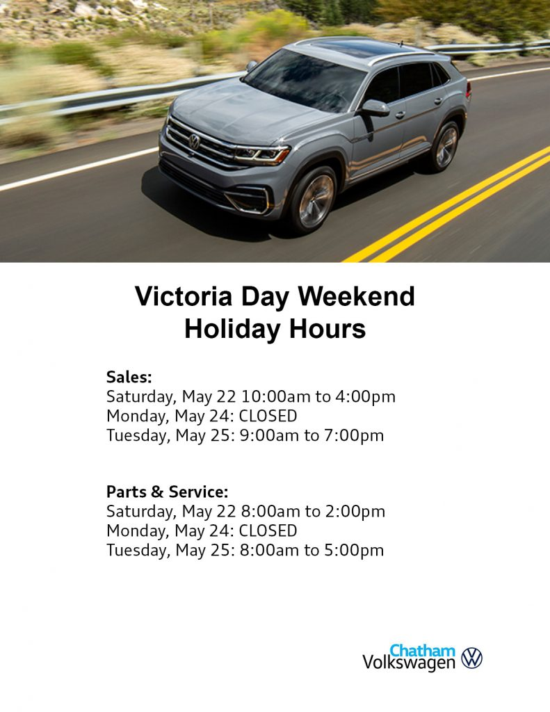 Victoria Day Hours Chatham 2021