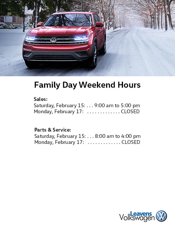 Family Day Hours Leavens