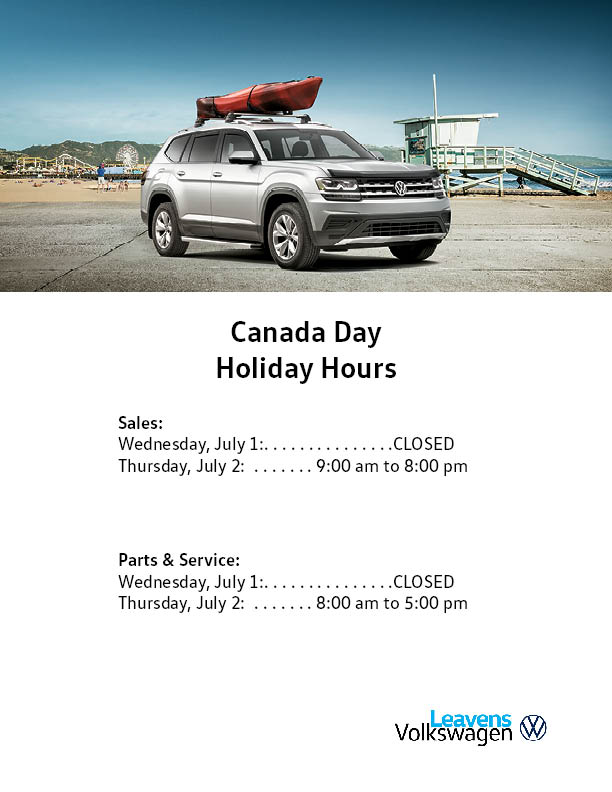 Canada Day Hours Leavens 2020