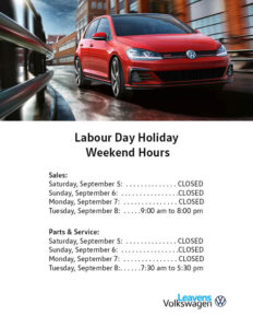 Labour Day Holiday Hours Leavens 2020