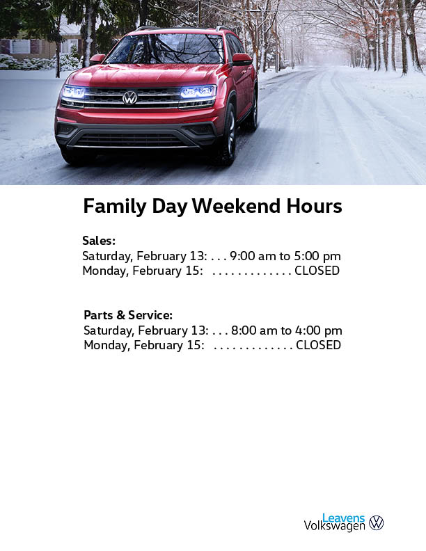 Family Day Hours Leavens 2021