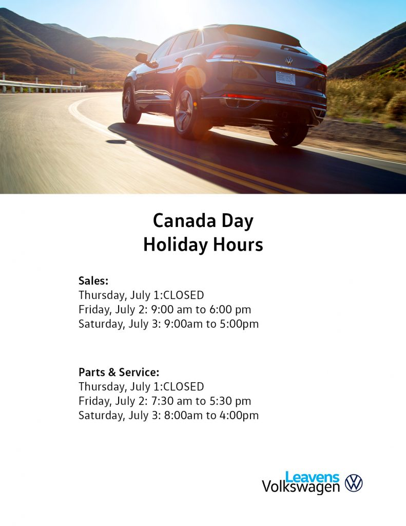 Canada Day Hours Leavens 2021