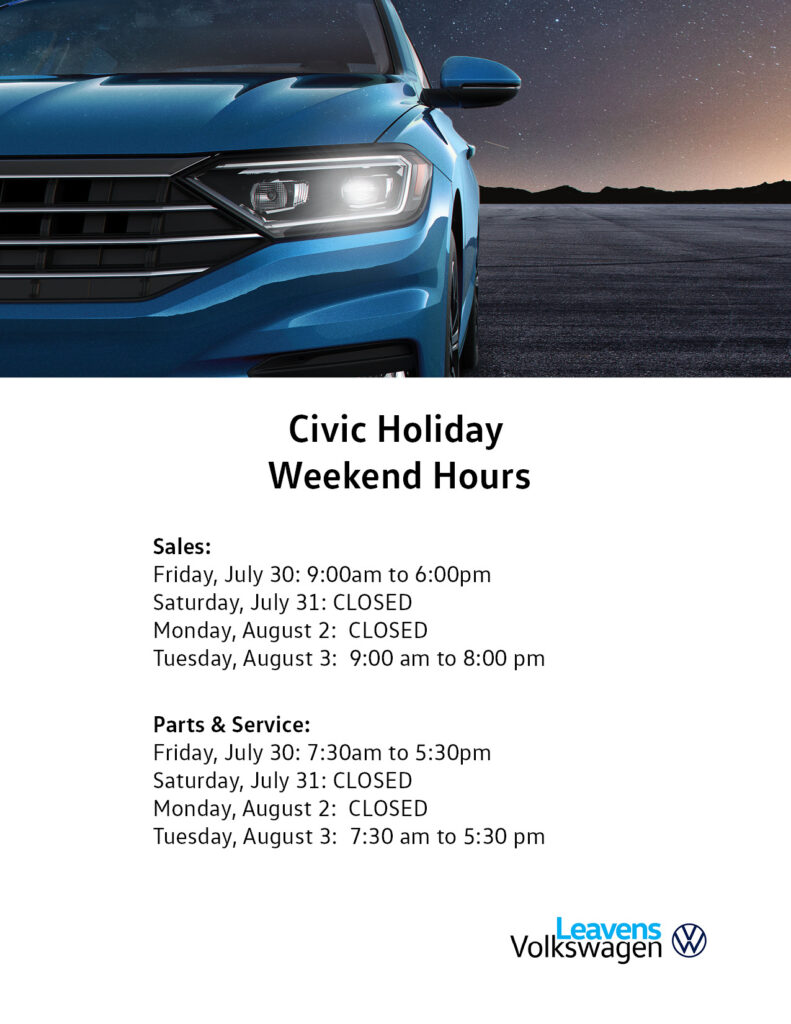 Civic Day Hours Leavens 2021