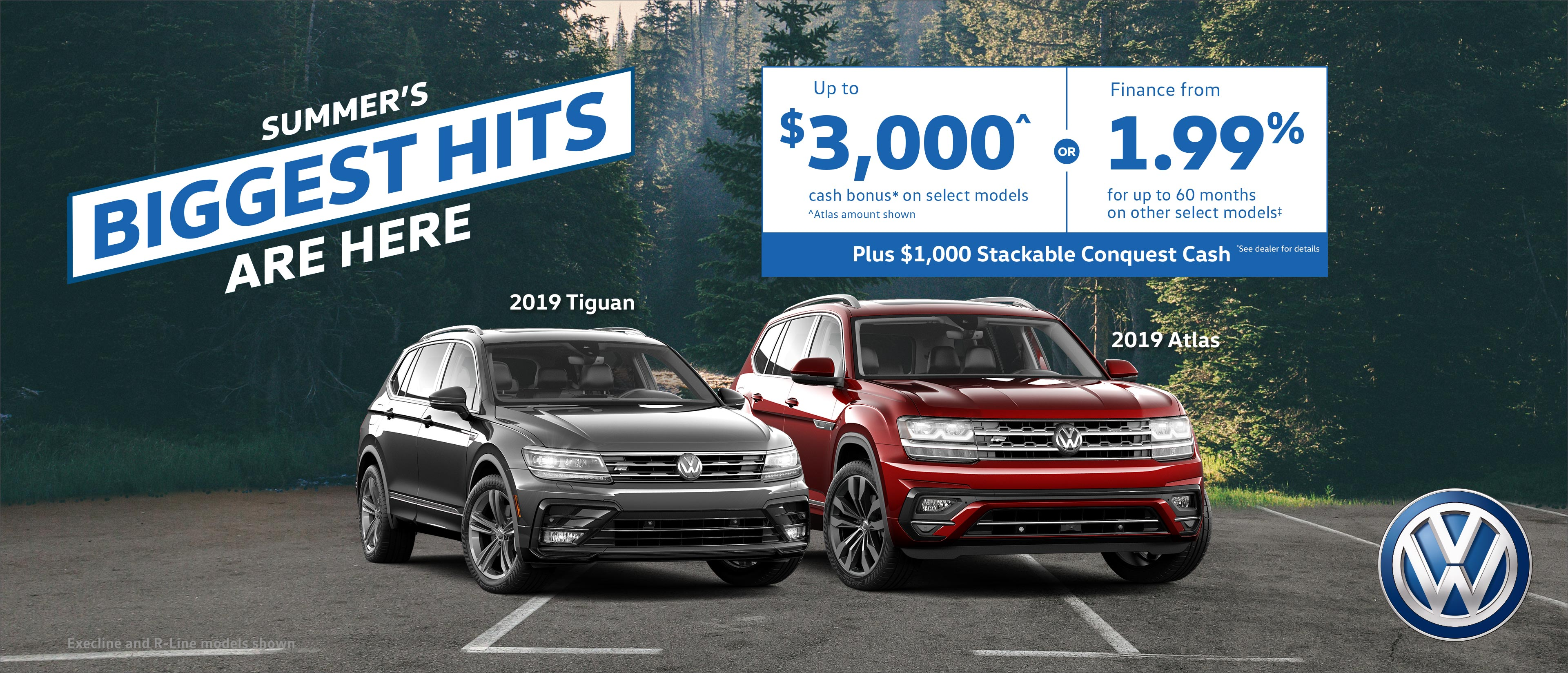 Save up to $3,000 off a new Volkswagen vehicle!