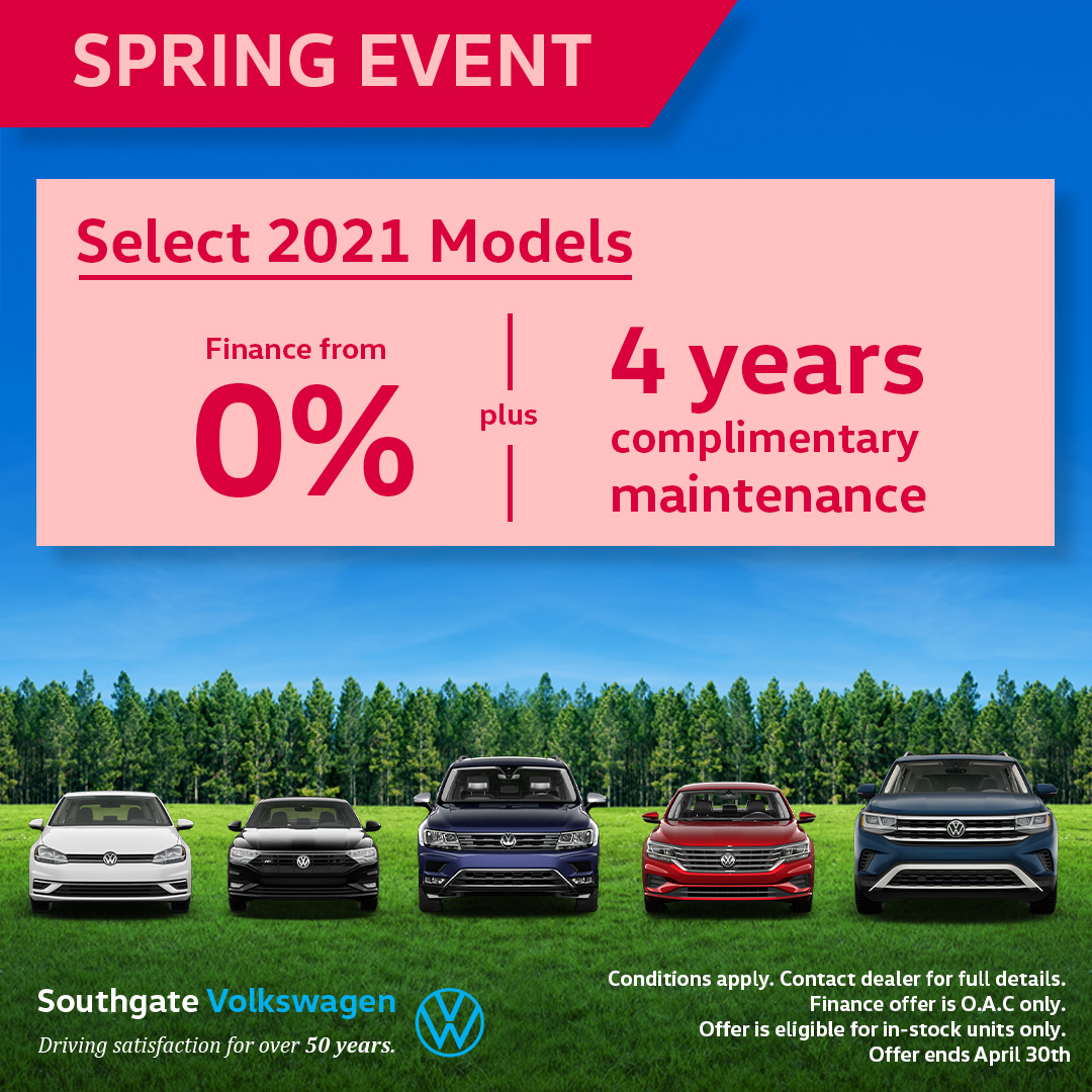 Sgvw Spring Event Select 2021 Models
