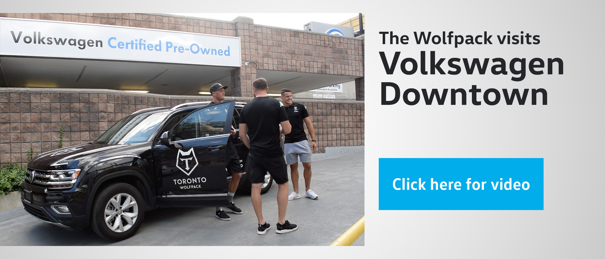 The Wolfpack visits Volkswagen Downtown slide