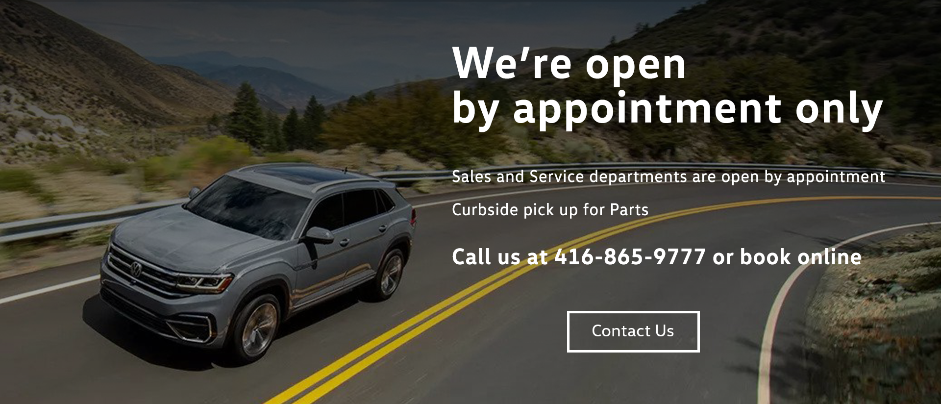 Vw Dt We Are Open Banner