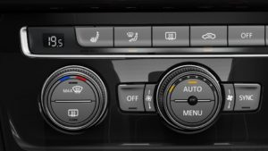 2018 Golf heated front seats and washer nozzles