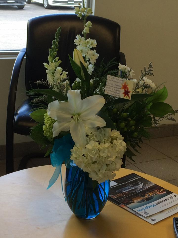 flowers from a customer