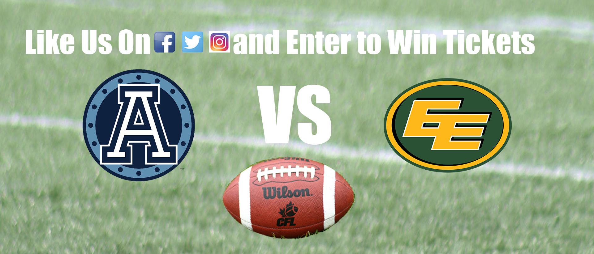 Enter to Win a Pair of Argos vs Eskimos Tickets!