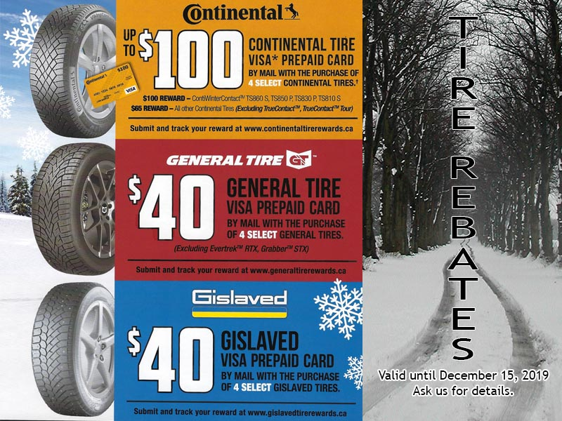Winter Tire Mail-in Rebates