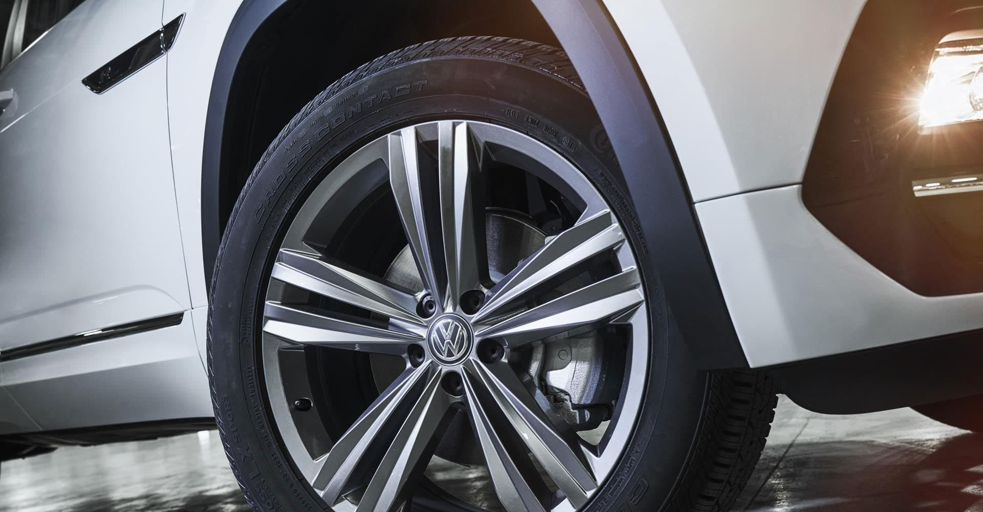 Exterior view of new VW model tires