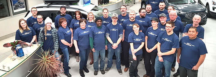 Service and Parts staff at Valley Ford Hague
