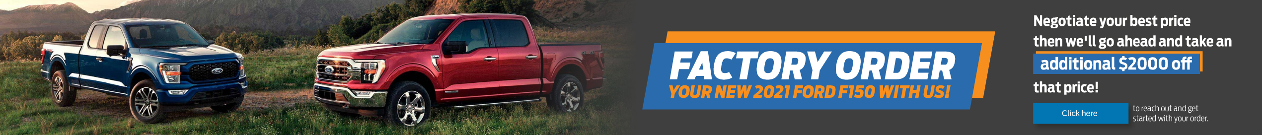 2021 Ford F-150 Factory Offer