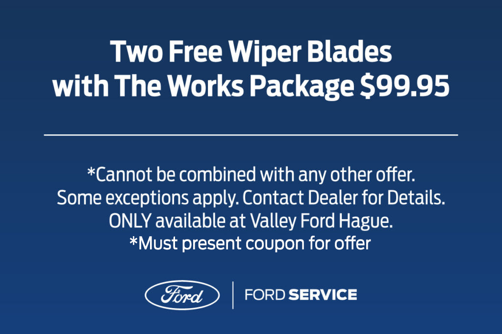 Two Free Wiper Blades with The Works Package
