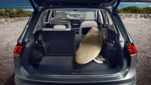 2018 Tiguan folding rear seats