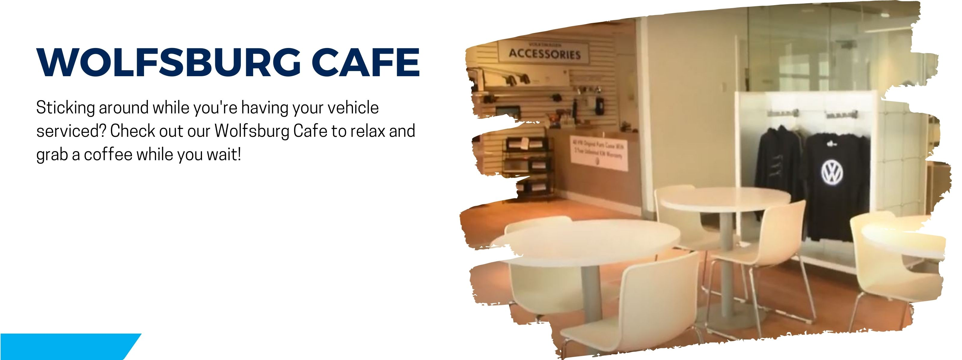 relax in our wolfsburg cafe while getting your vehicle serviced