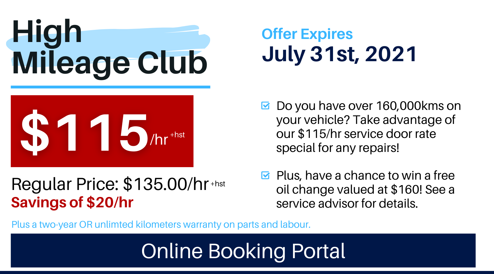 Pvw July 2021 Service Special High Mileage