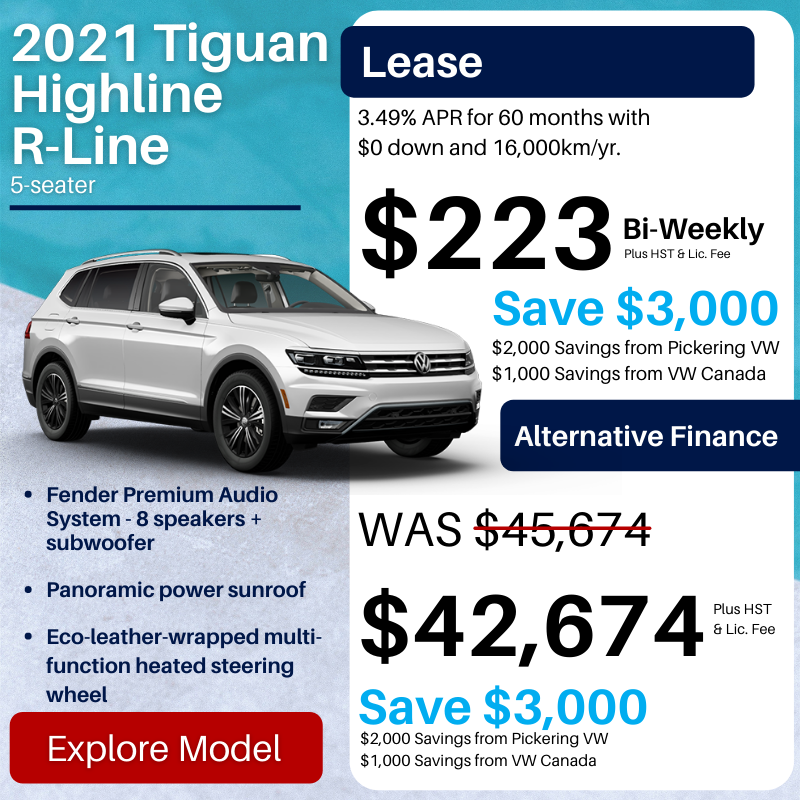 Pvw July 2021 Sales Special Tiguan
