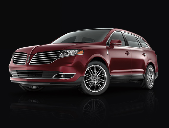2019 Lincoln M K T shown in Ruby Red Metallic Tinted Clearcoat