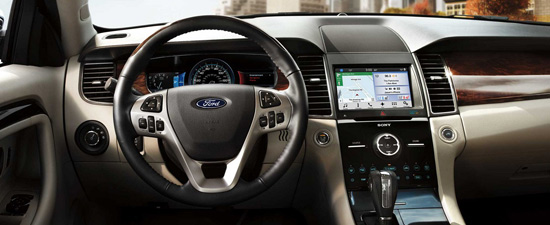 Ford vehicle interior view