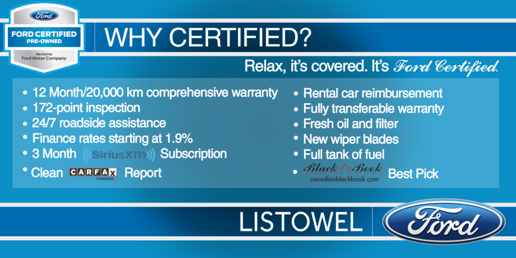 Get Your Ford Certified Pre-Owned Vehicle at Listowel Ford today