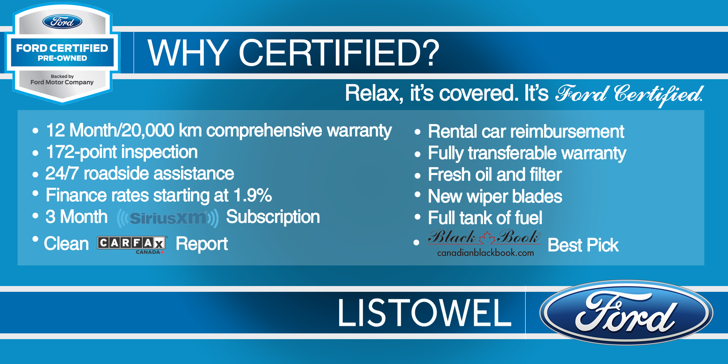 Ford Certified Pre Owned >> Listowel Ford Certified Pre Owned Vehicles Information Graphic Png