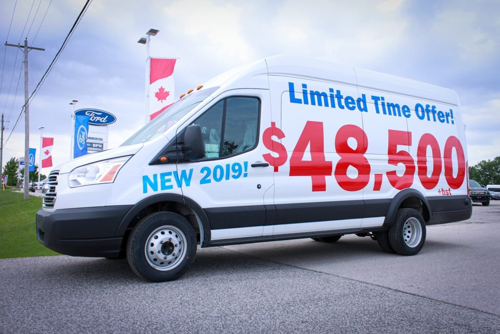 2019 Ford Transit Passenger and Cargo Vans are on sale at Listowel Ford in Listowel, Ontario