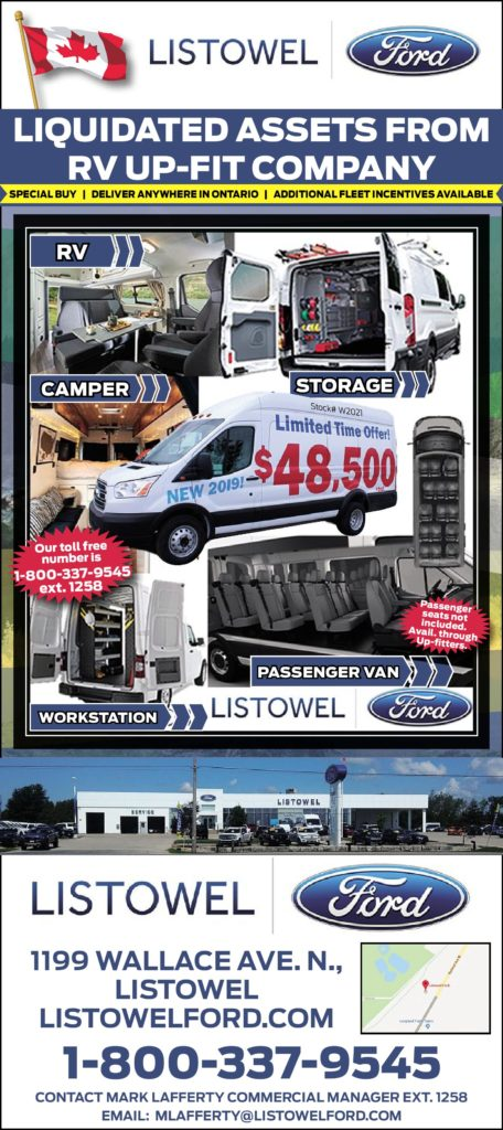 Ford Commercial Fleet Program Deals at Listowel Ford 2019 Ford Transit