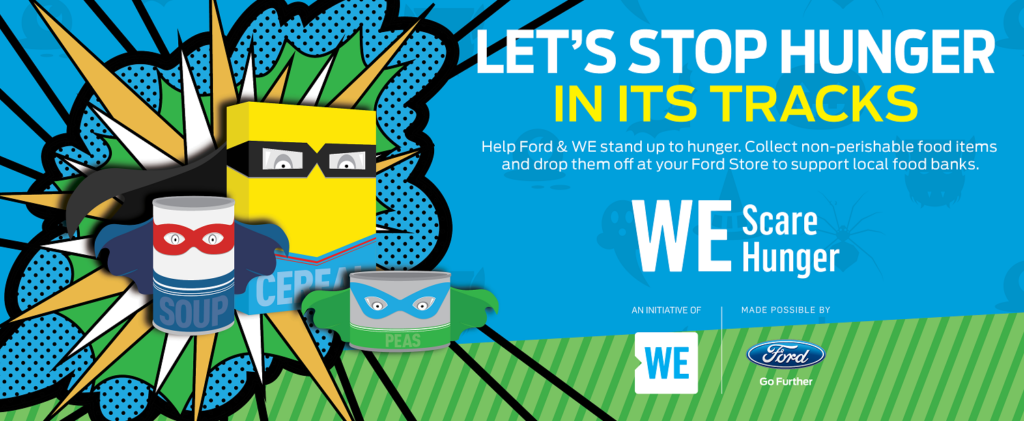 Drop your non-perishable food items at Listowel Ford between October 1 and October 31 and help us SCARE HUNGER!
