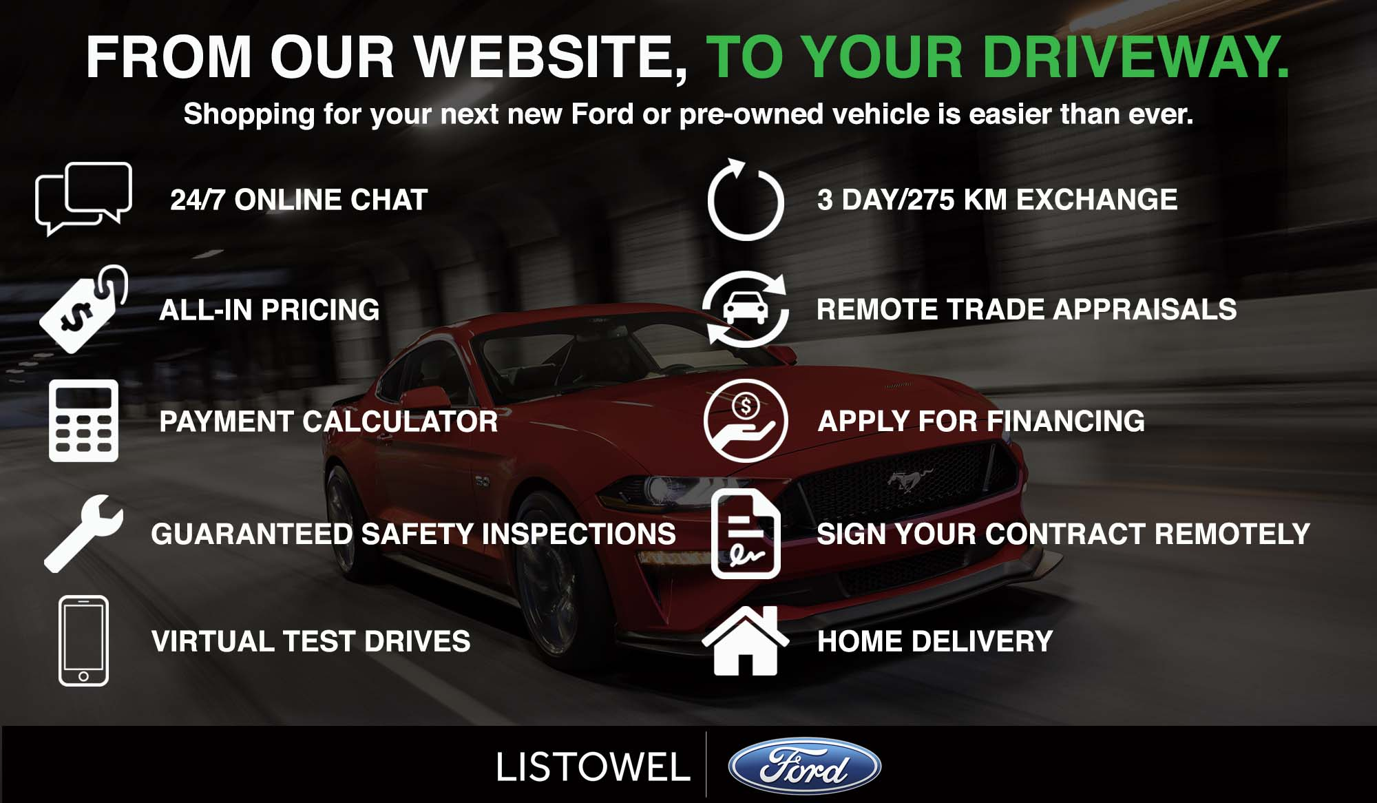 Why Buy Your New Car Online With Listowel Ford