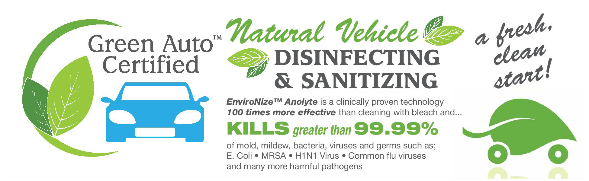 Environize Green Auto Certified Disinfection And Sanitation Product At Listowel Ford
