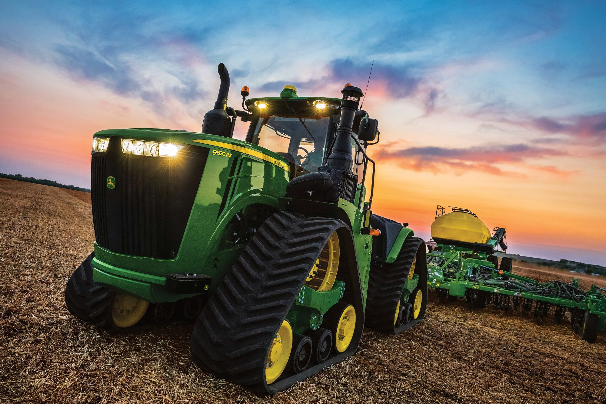 Front exterior view of the John Deere 9620 RX