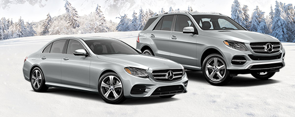 Mercedes-Benz Vehicles on a winter background