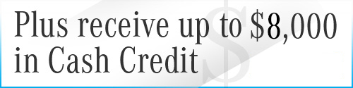 Graphic for $8,000 in Cash Credit with Contact Sales CTA