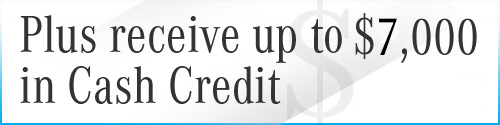 Graphic for $7,000 in Cash Credit with Contact Sales CTA