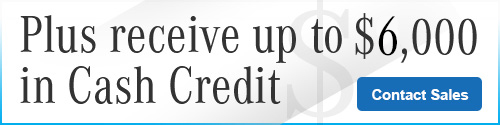 Graphic for $6,000 in Cash Credit with Contact Sales CTA