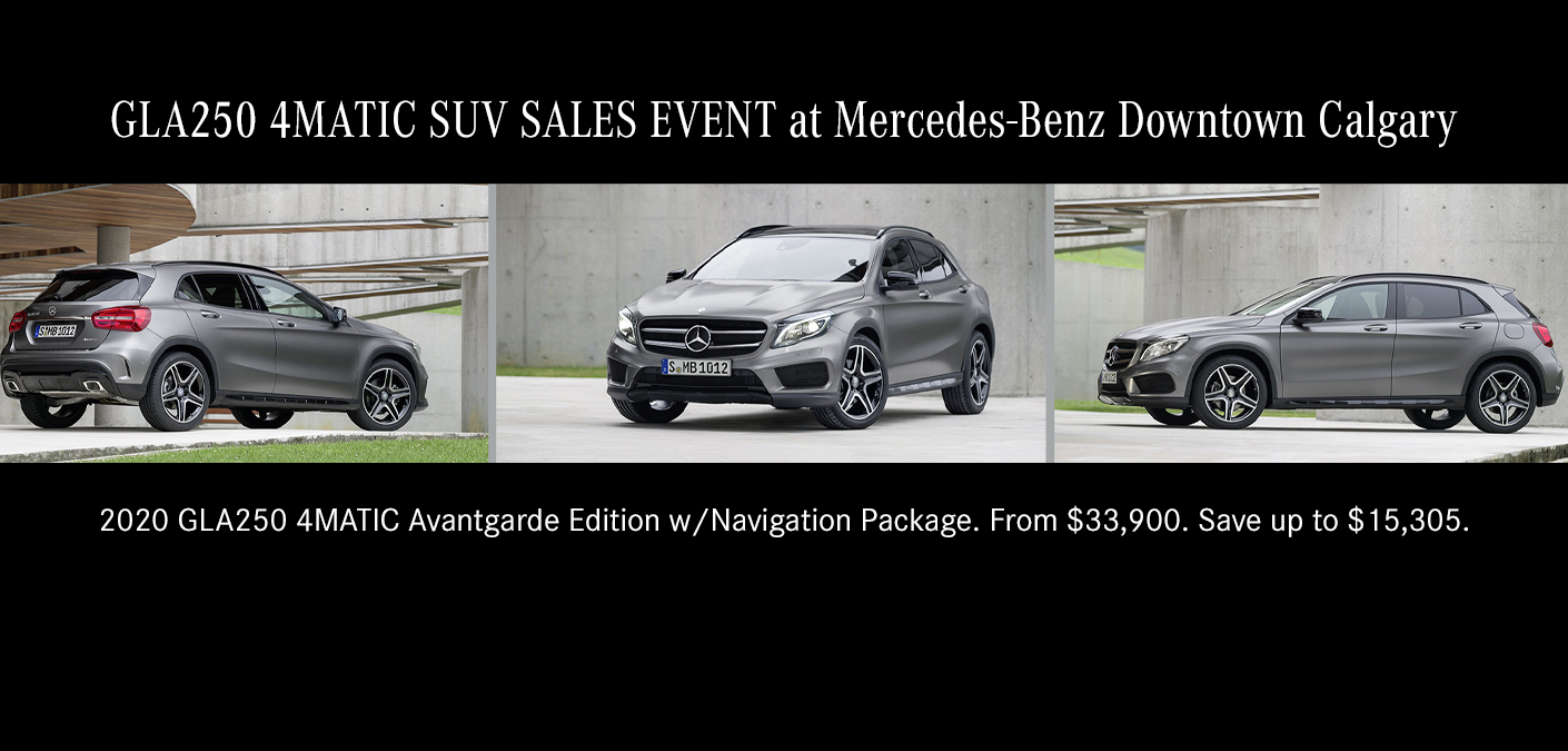 Gla Suv Sales Event Mercedes Benz Calgary