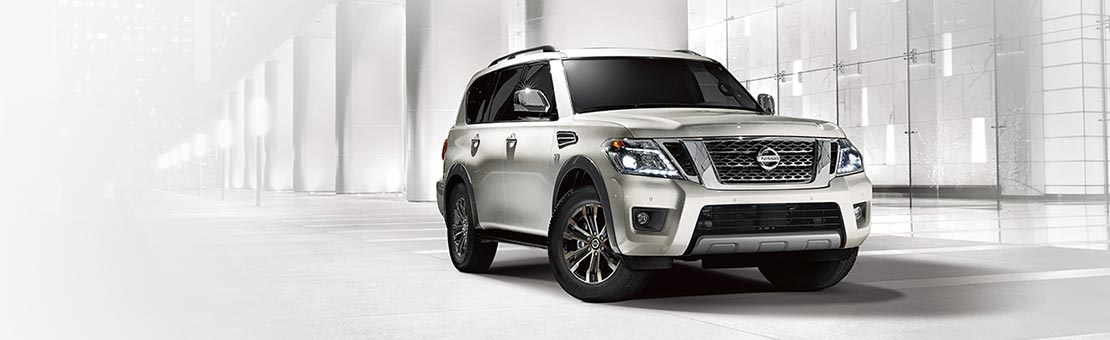 2019 Nissan Armada on a light coloured urban setting