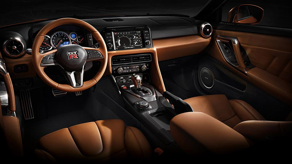 Nissan GT-R® Premium Edition with Premium Interior Package shown in Rakuda Tan