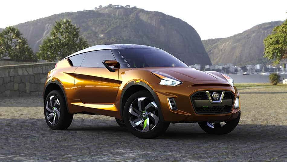 Nissan EXTREM concept car shining in metallic orange