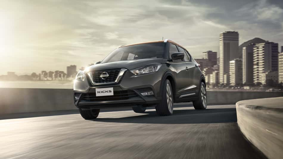 The 2019 Nissan Kicks, speeding away from the big city