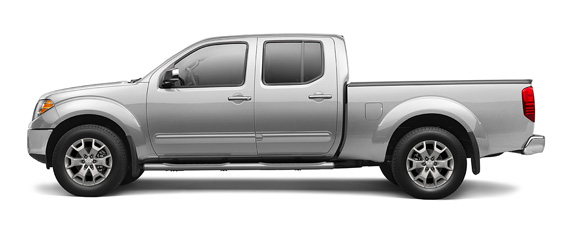 Nissan Frontier in Silver Crew Cab