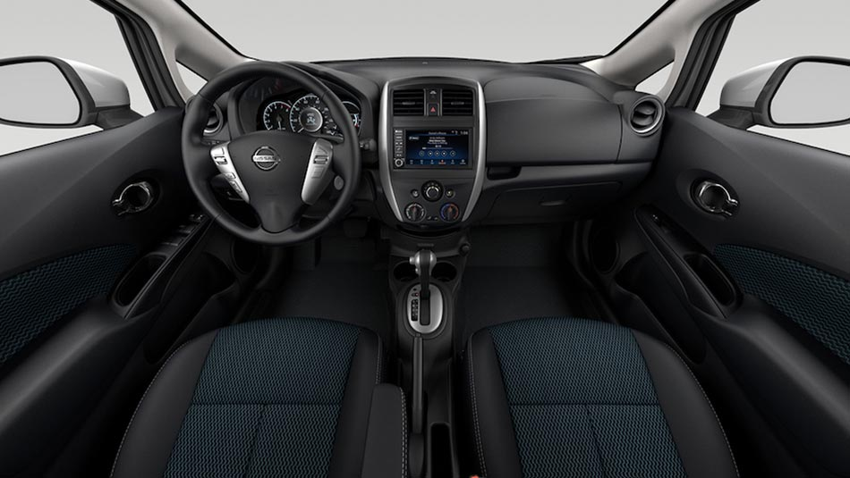 2019 Nissan Versa spacious interior view of driver and passenger seats