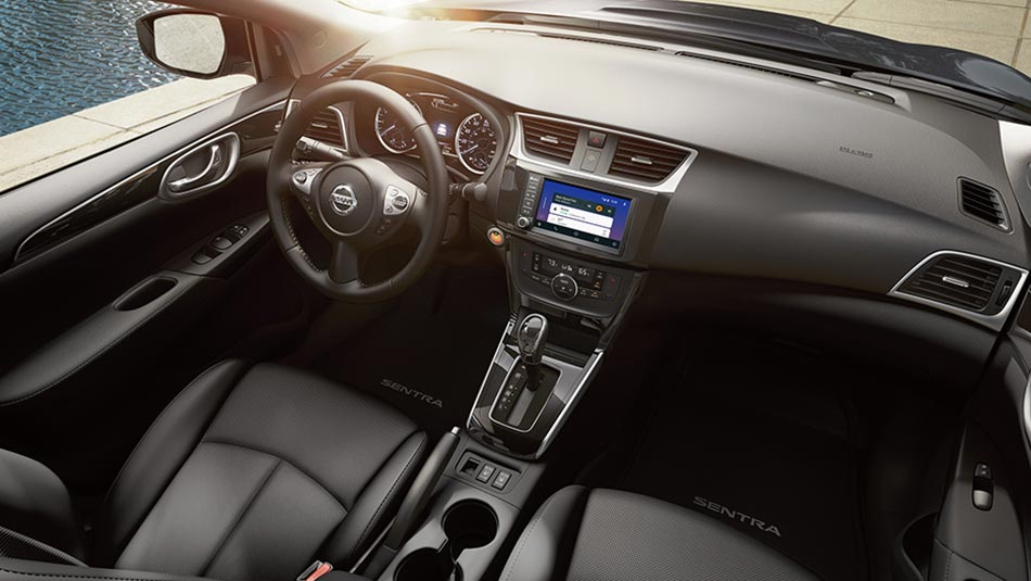 2019 Nissan Sentra interior view of cloth seat trim